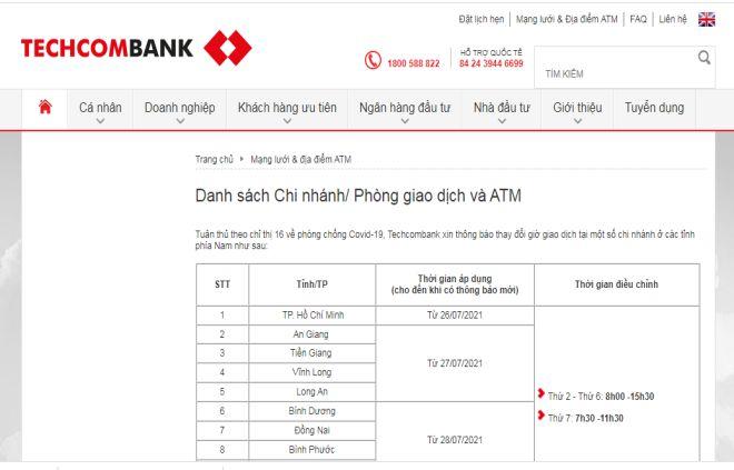 tra cuu so hotline techcombank