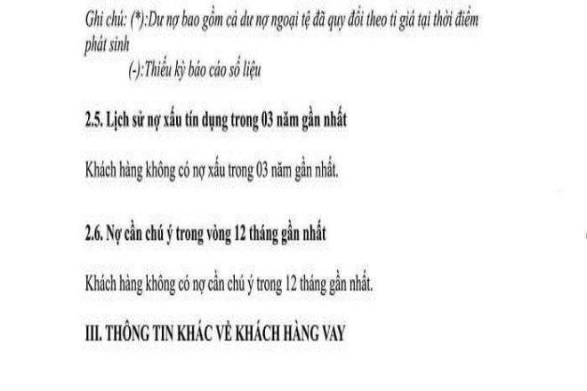 truong hop khong co no xau